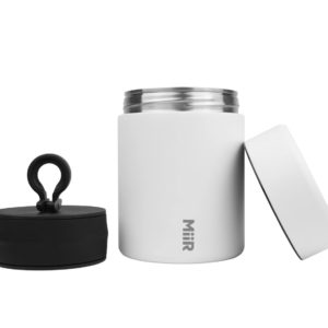 miir coffee storage canister white with lid